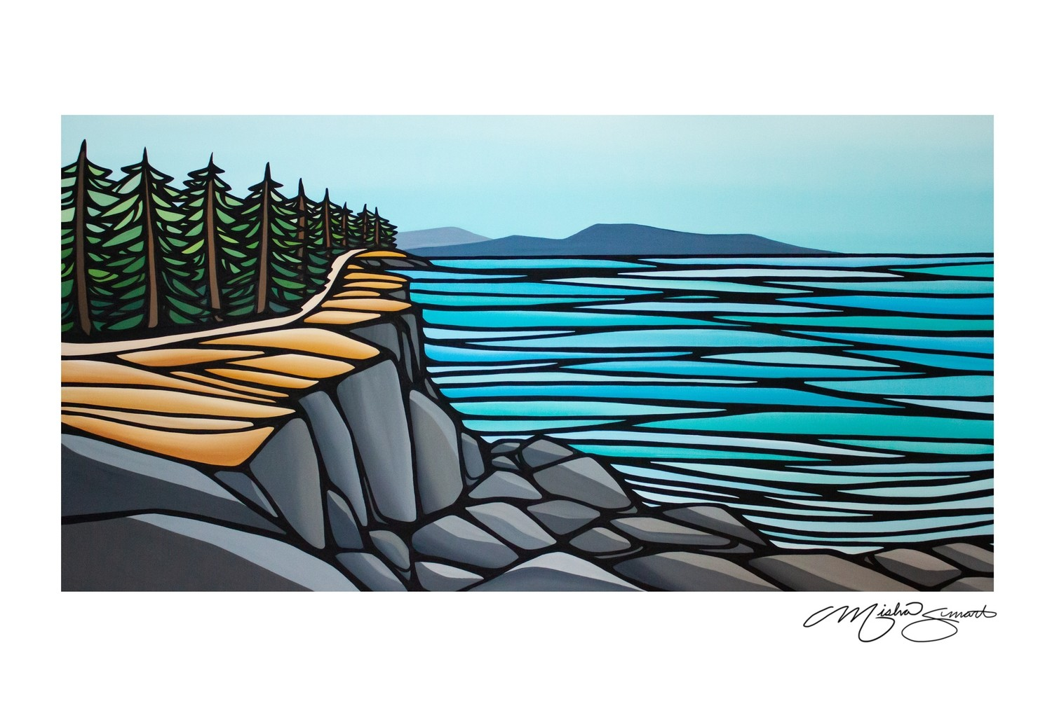 Giclee Print on Canvas- Helliwell- Hornby Island