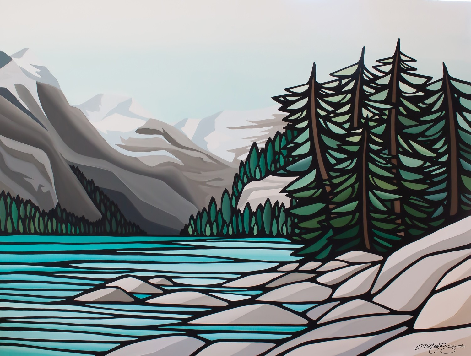 Giclee Print on Canvas- Lake Louise