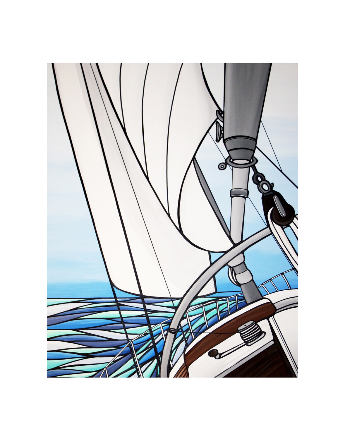 Giclee Print on Canvas- Sunday Breeze
