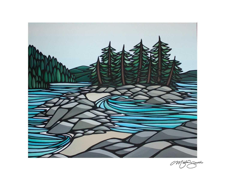 Giclee Print on Canvas- Twin Islands