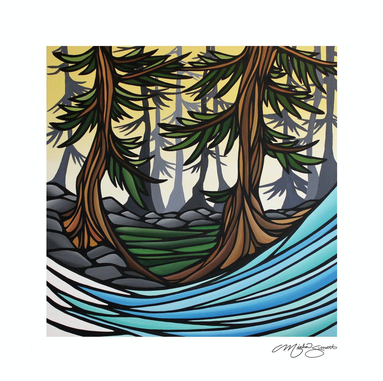 Art Print- Between the Cedars