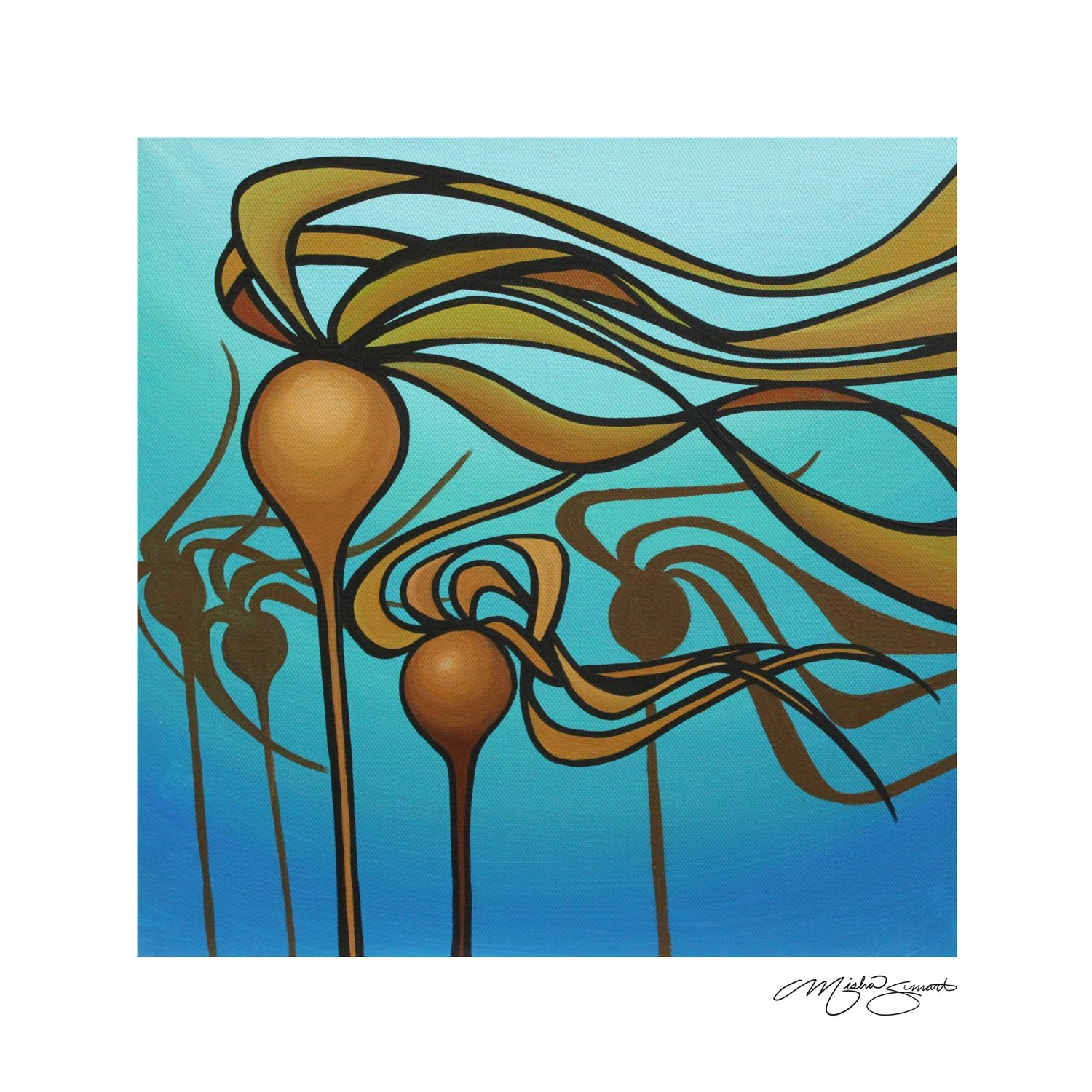 Giclee Print on Canvas-Floating Forest