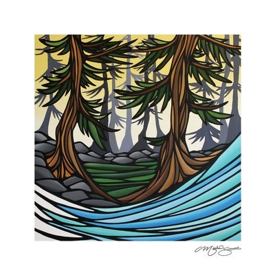 Giclee Print on Canvas- Between the Cedars