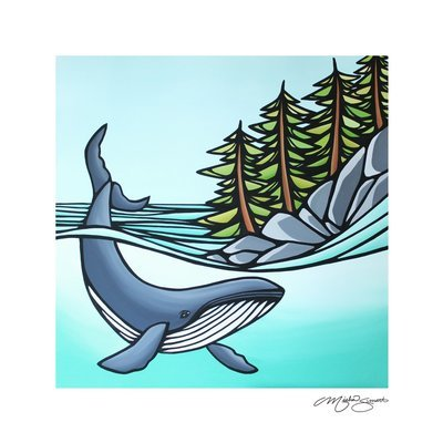Giclee Print on Canvas- Humpback