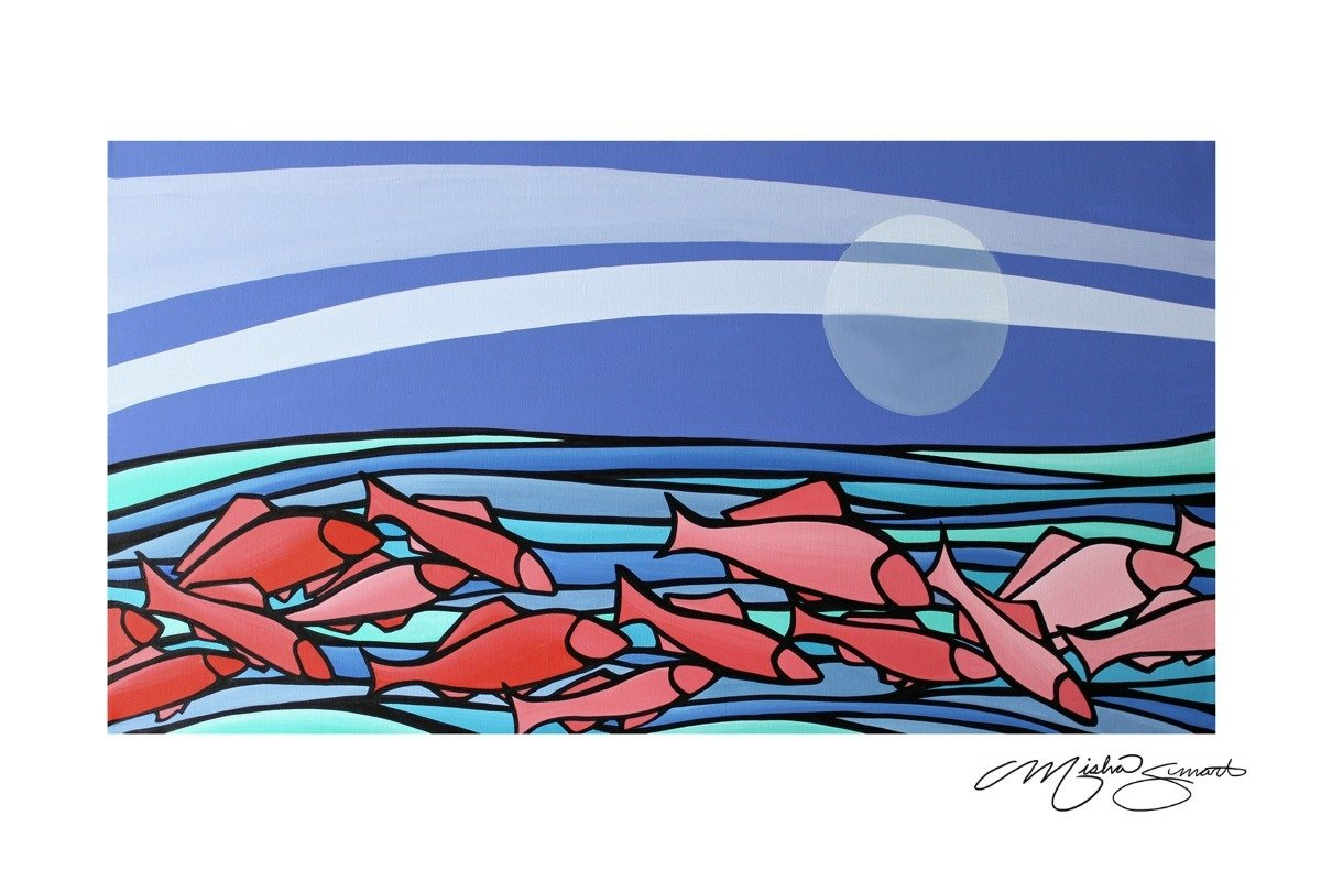 Giclee Print on Canvas- Swim