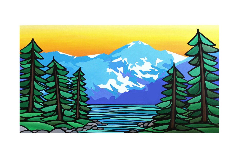 Giclee Print on Canvas- Our Great Bear Rainforest