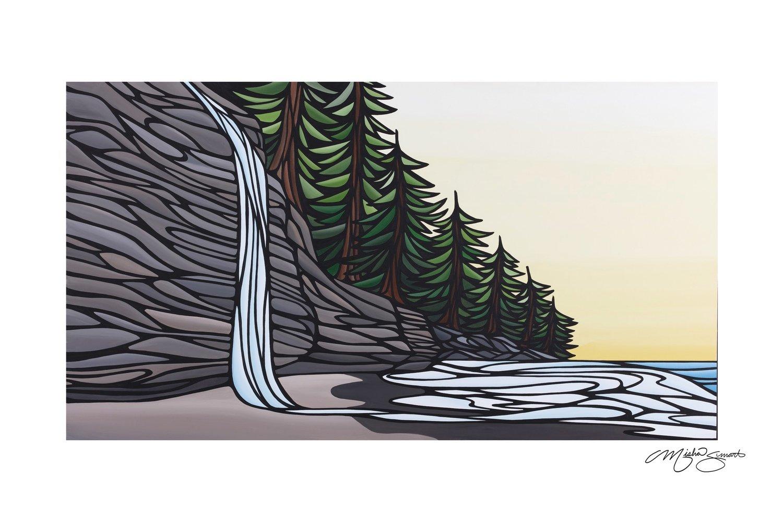 Giclee Print on Canvas- Mystic Beach