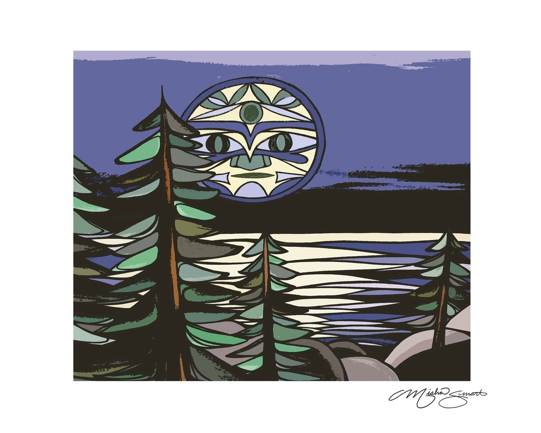 Giclee Print on Canvas- Luna