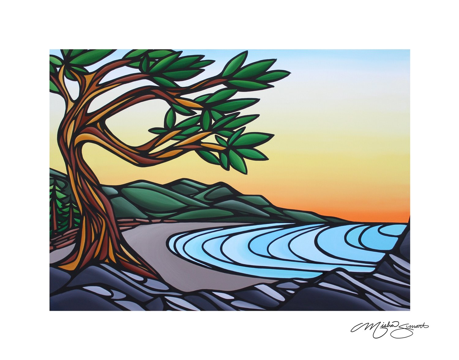 Giclee Print on Canvas- Tribune Bay