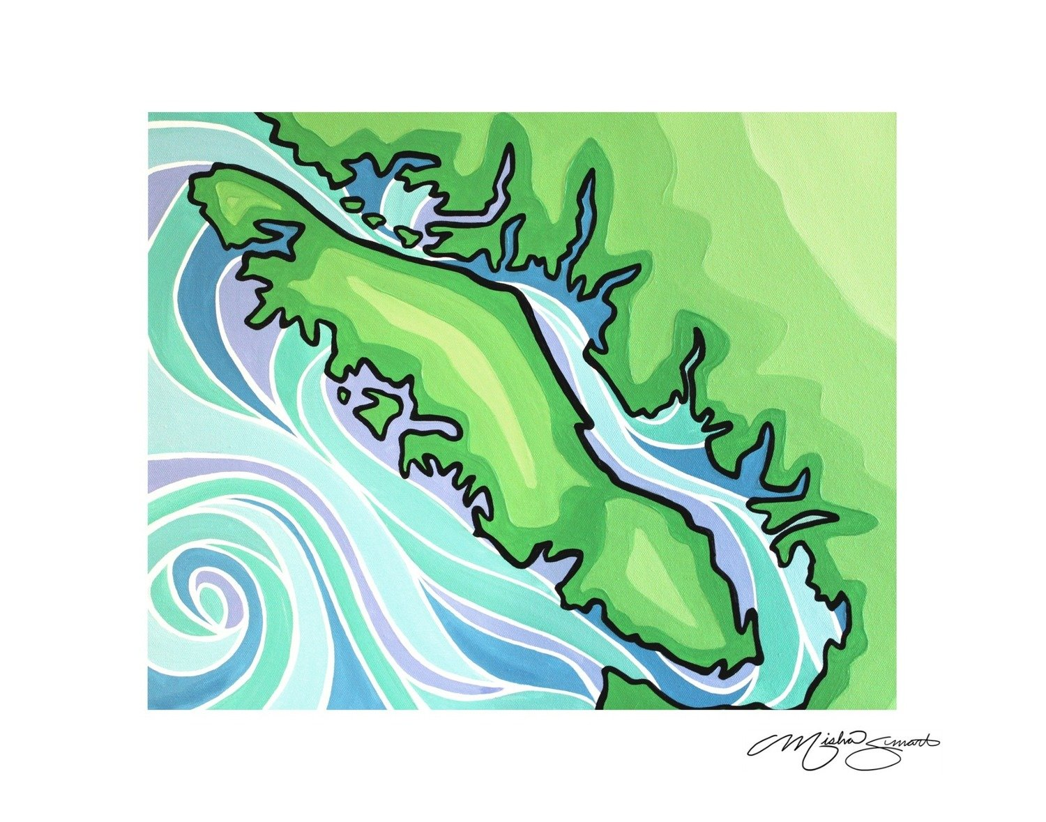 Giclee Print on Canvas- Vancouver Island