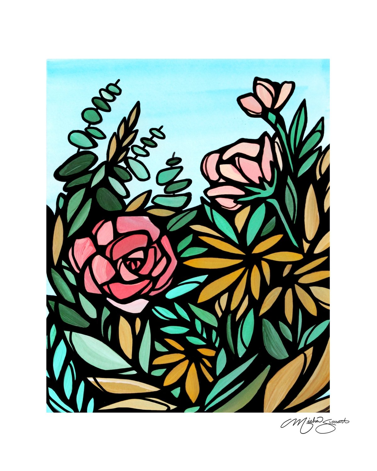 Giclee Print on Canvas- Floral Study 02