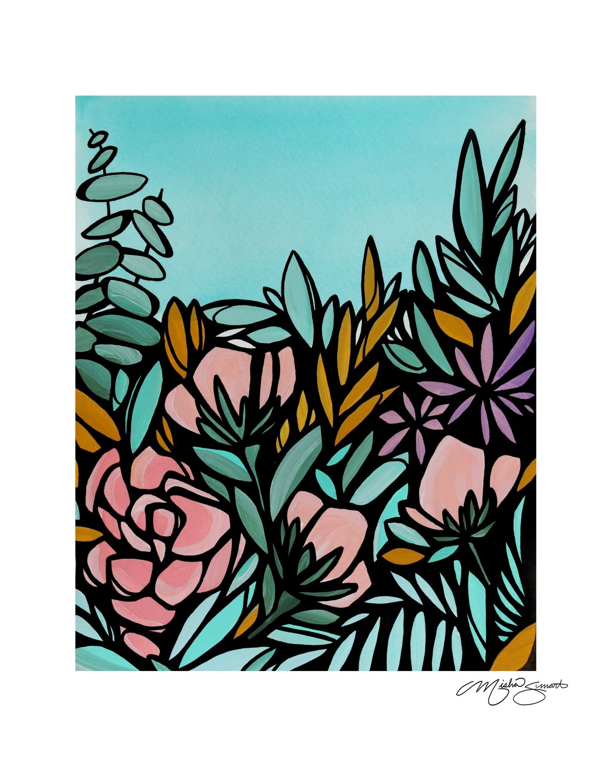 Giclee Print on Canvas- Floral Study 01