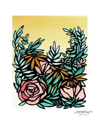 Original Art- Framed 'Floral Study 03'