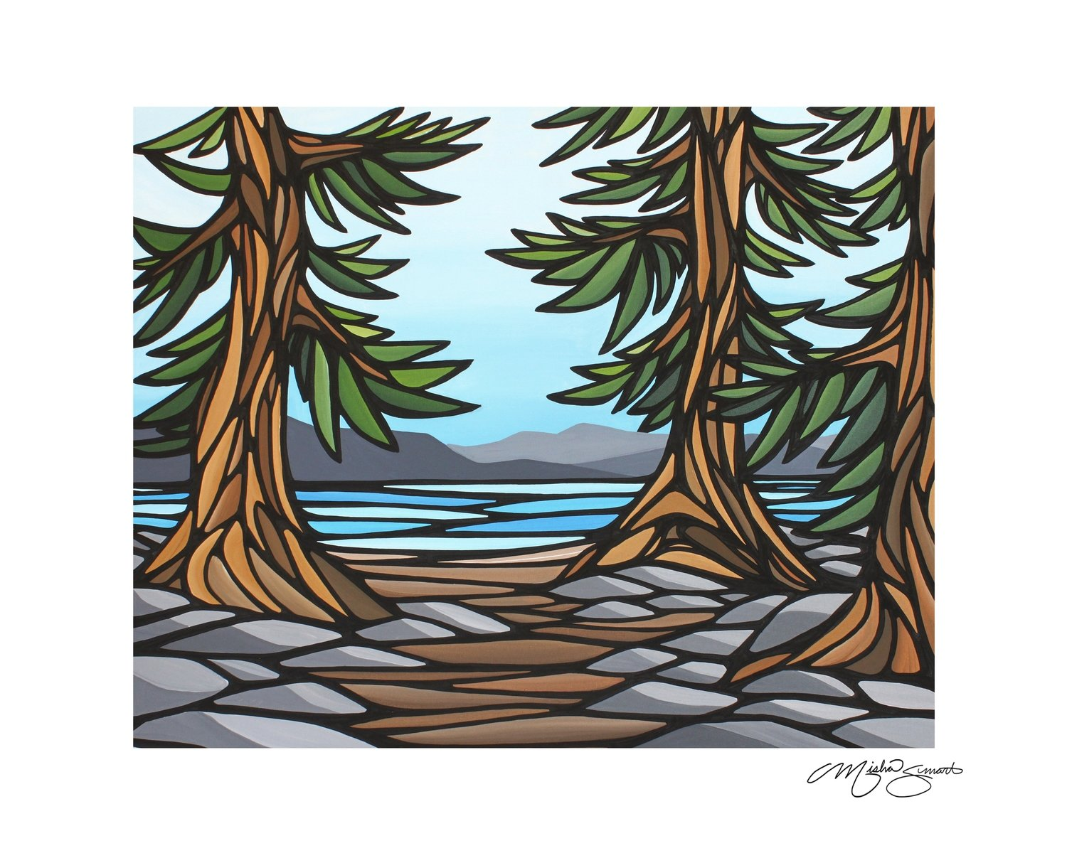 Giclee Print on Canvas- Through the Woods