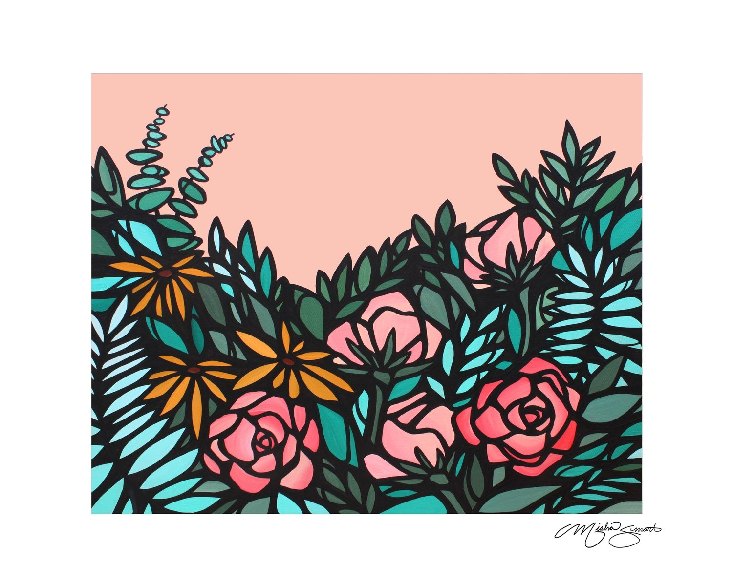 Giclee Print on Canvas- Floral study 04