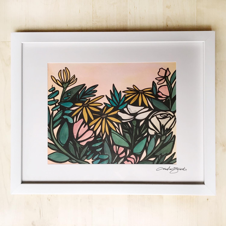 Original Art- Framed 'Floral Study 06'