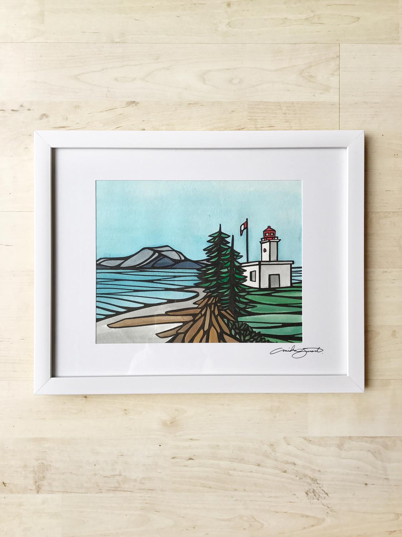 Original Art- Framed 'Malcolm Island Lighthouse'