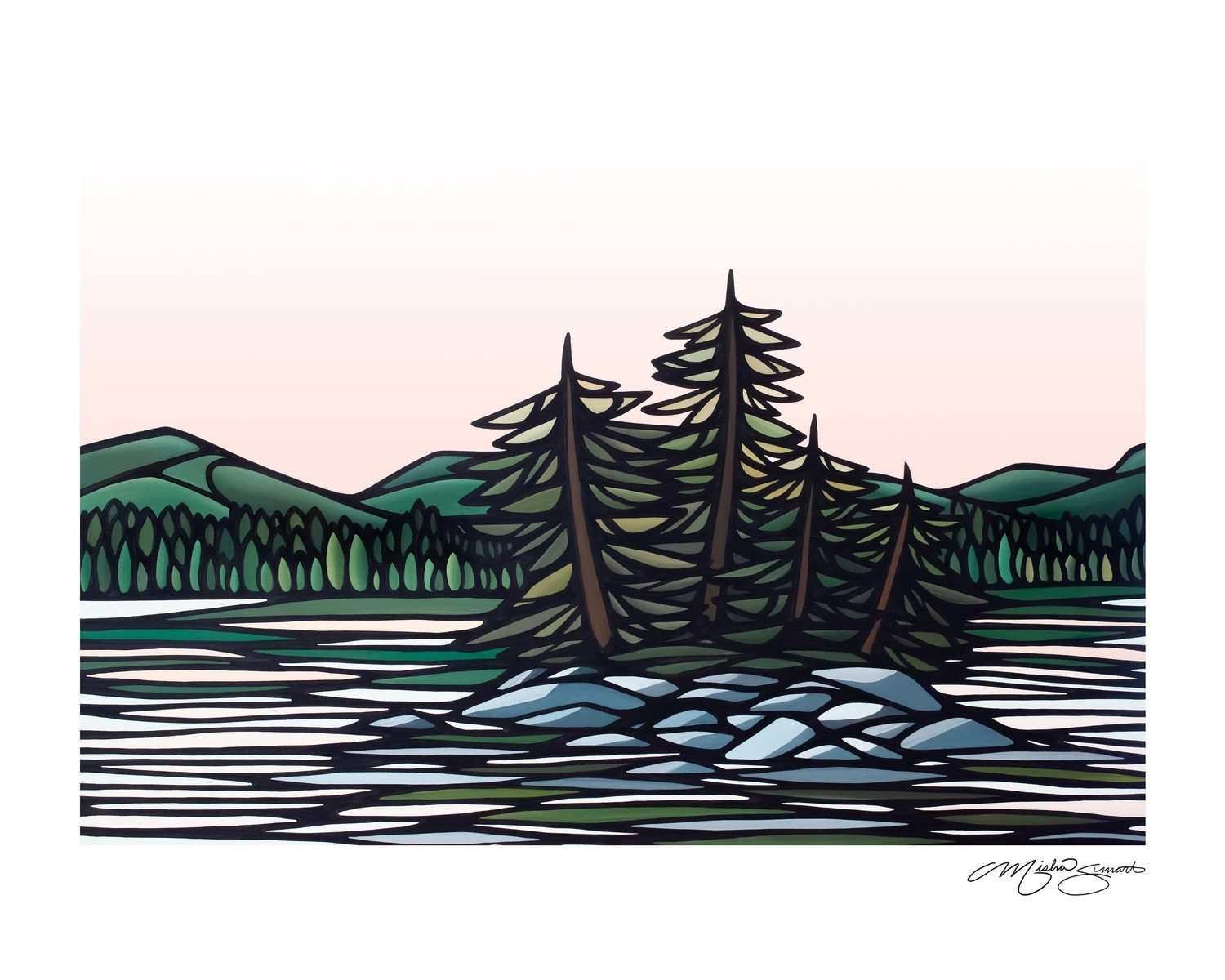 Giclee Print on Canvas- On the Lake