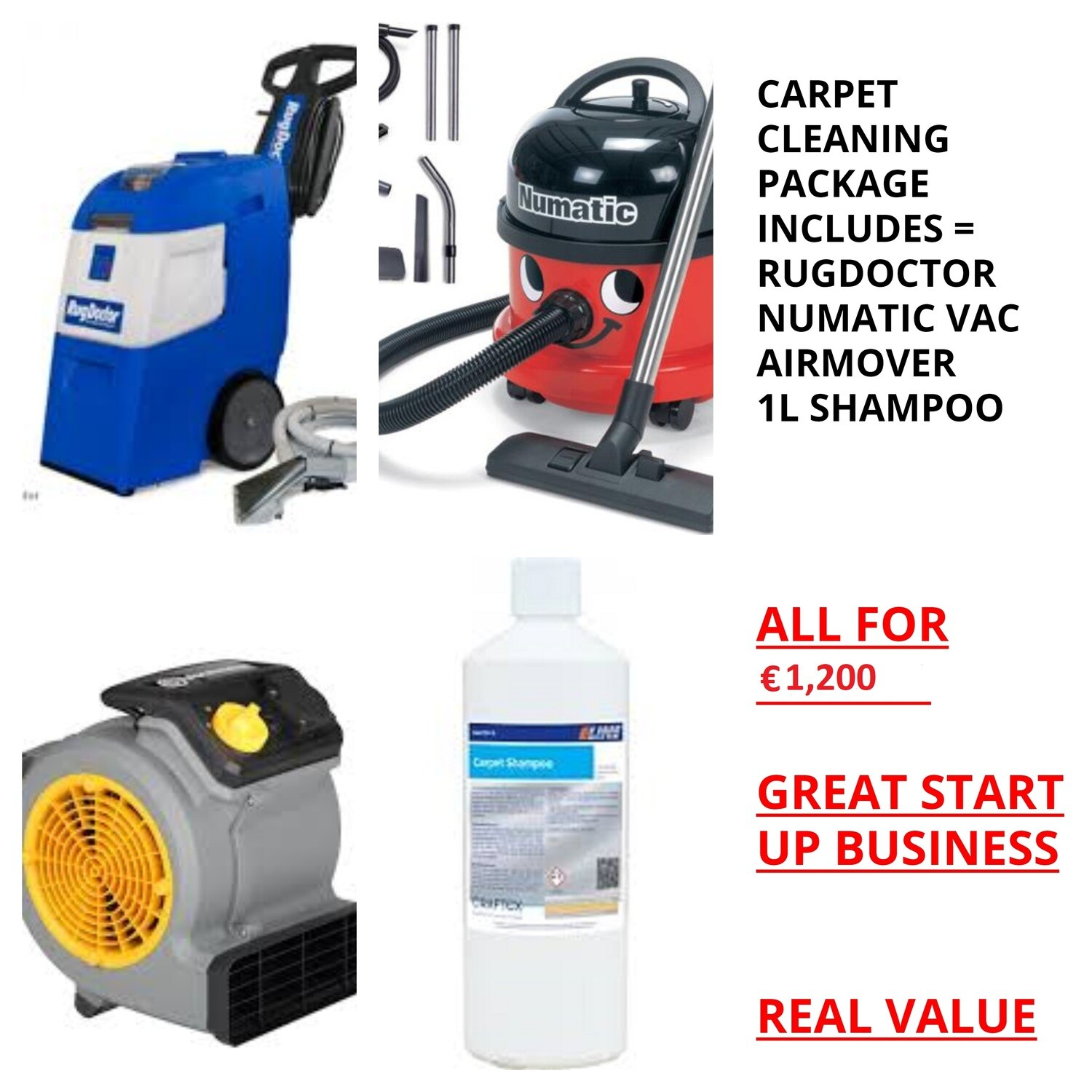 CARPET CLEANING PACKAGE ONLY €1200