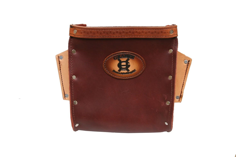 Graber rosewood brown leather Bolt Bag -