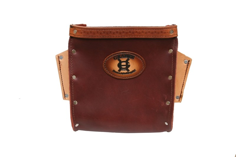 Graber rosewood brown leather Bolt Bag -