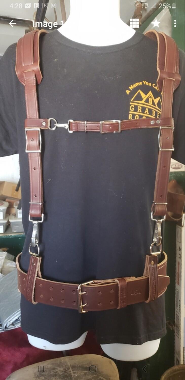 Suspenders,padded Belt system combo
