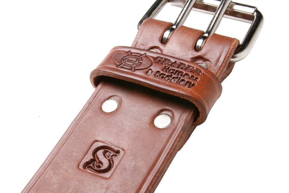 "Graber 2"" Bullhide harness leather tool belt"