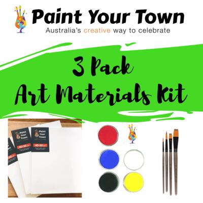 Art Materials - 3 Pack