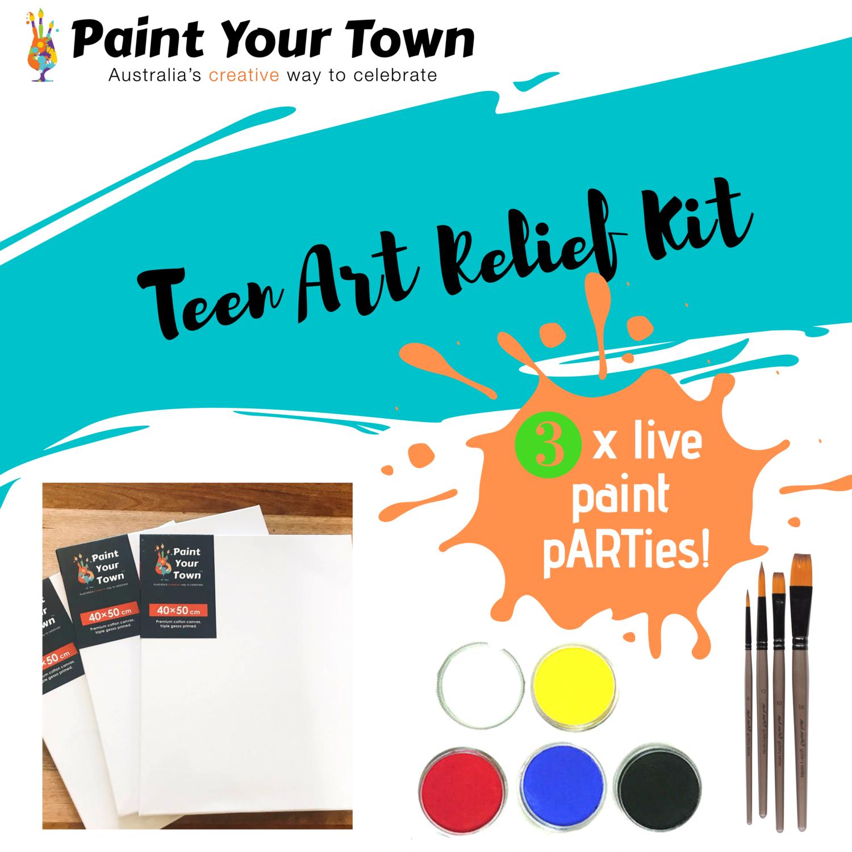 Teen Art Relief Kit - 5 x live paint pARTies! + materials
