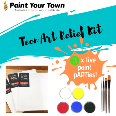 Teen Art Relief Kit - 5 x live paint pARTies! + materials
