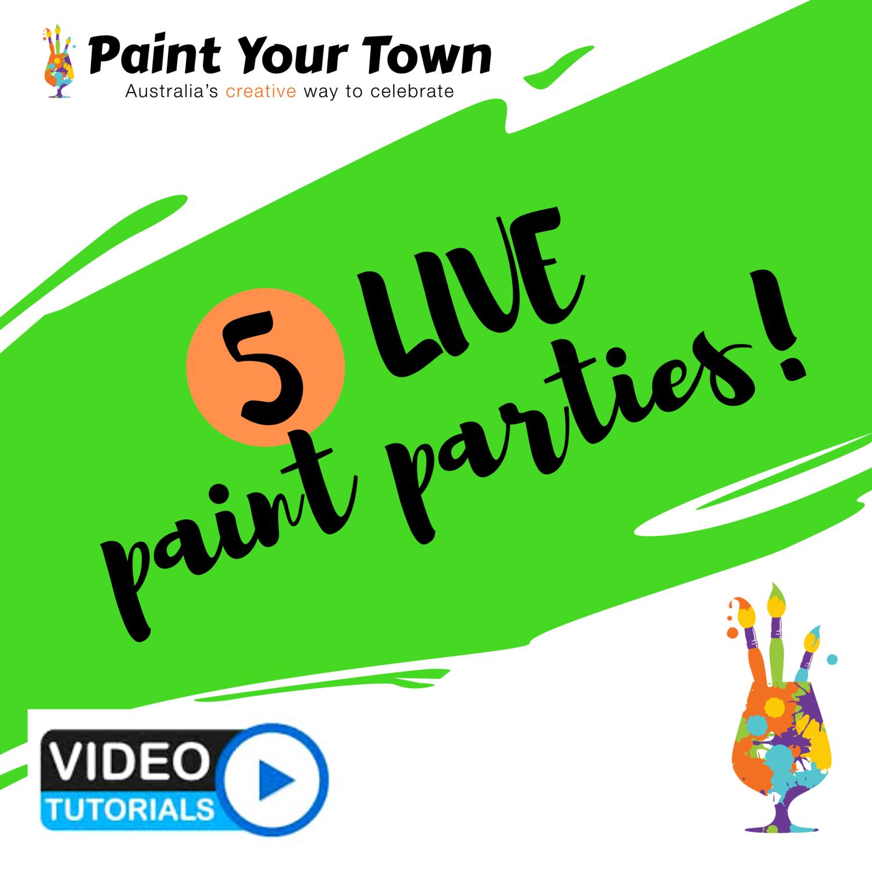 5 Live paint pARTies!