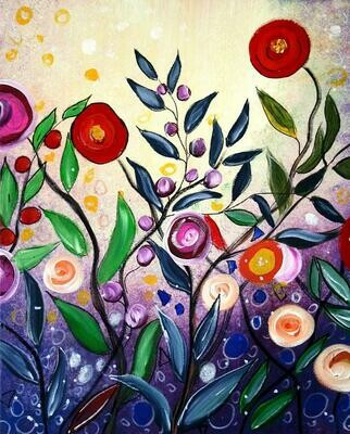 Live paint pARTy! - Blossoms - Friday 31ST JULY 6pm