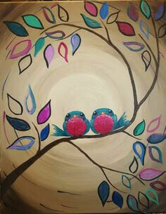 Live paint pARTy! - Love birds -  MONDAY 27TH JULY 6PM