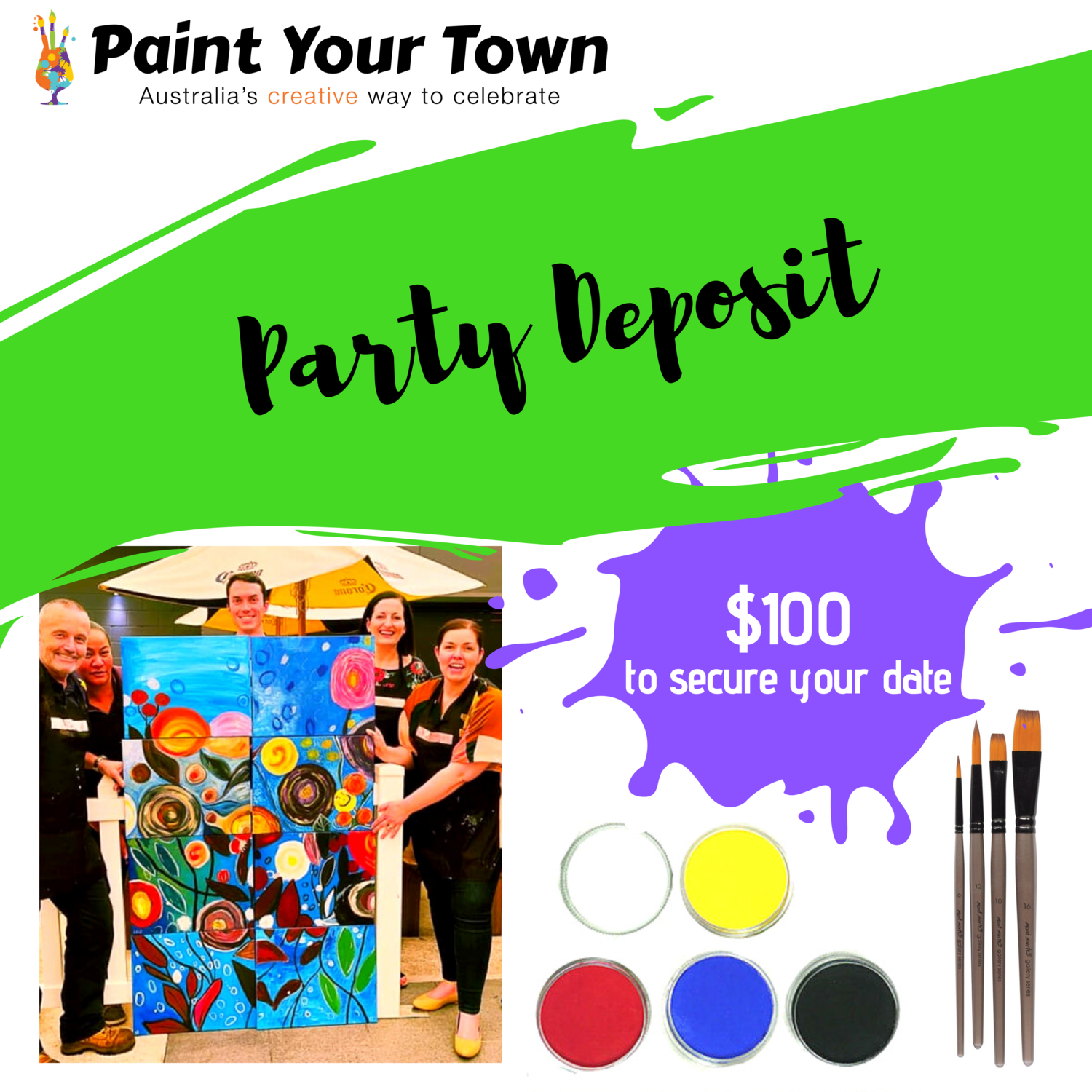Private paint & sip pARTy deposit