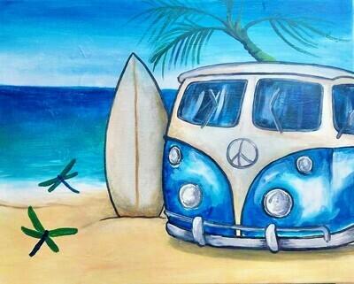 Beach Time! - Virtual Class (no supplies)