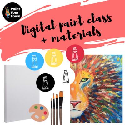 Lion - Virtual class  + supplies