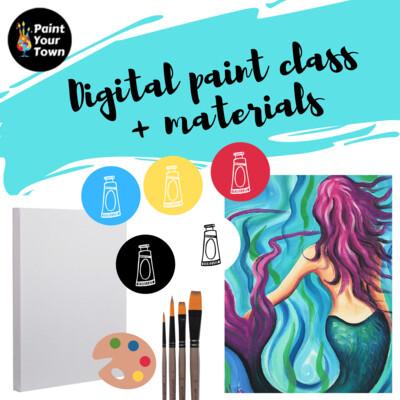 Mermaid - Virtual class  + written instructions + supplies
