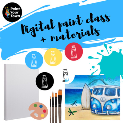 Beach Time - Virtual class  + supplies