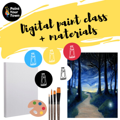 Midnight Stroll - Virtual class  + supplies