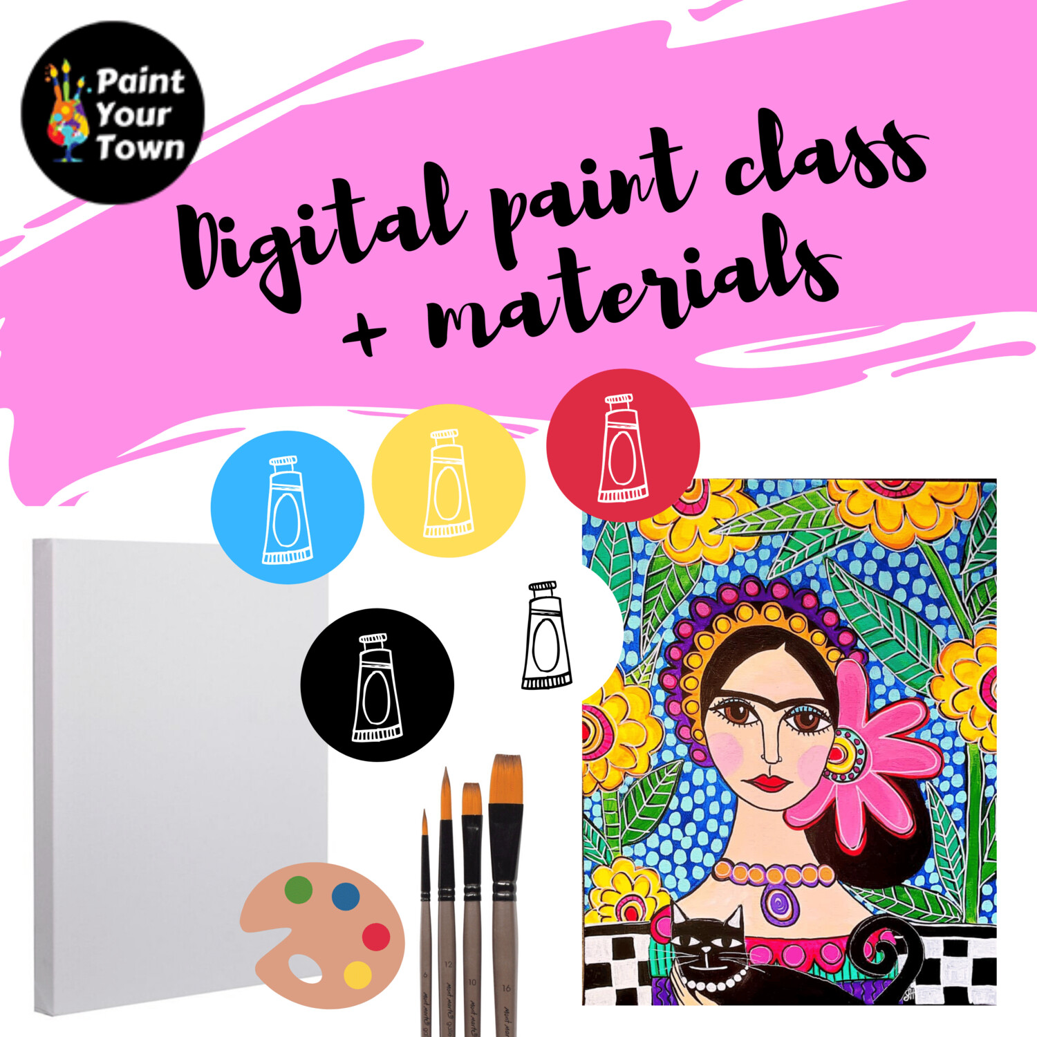 Patterned Frida - Virtual class  + supplies