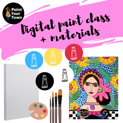 Patterned Frida - Virtual class  + supplies