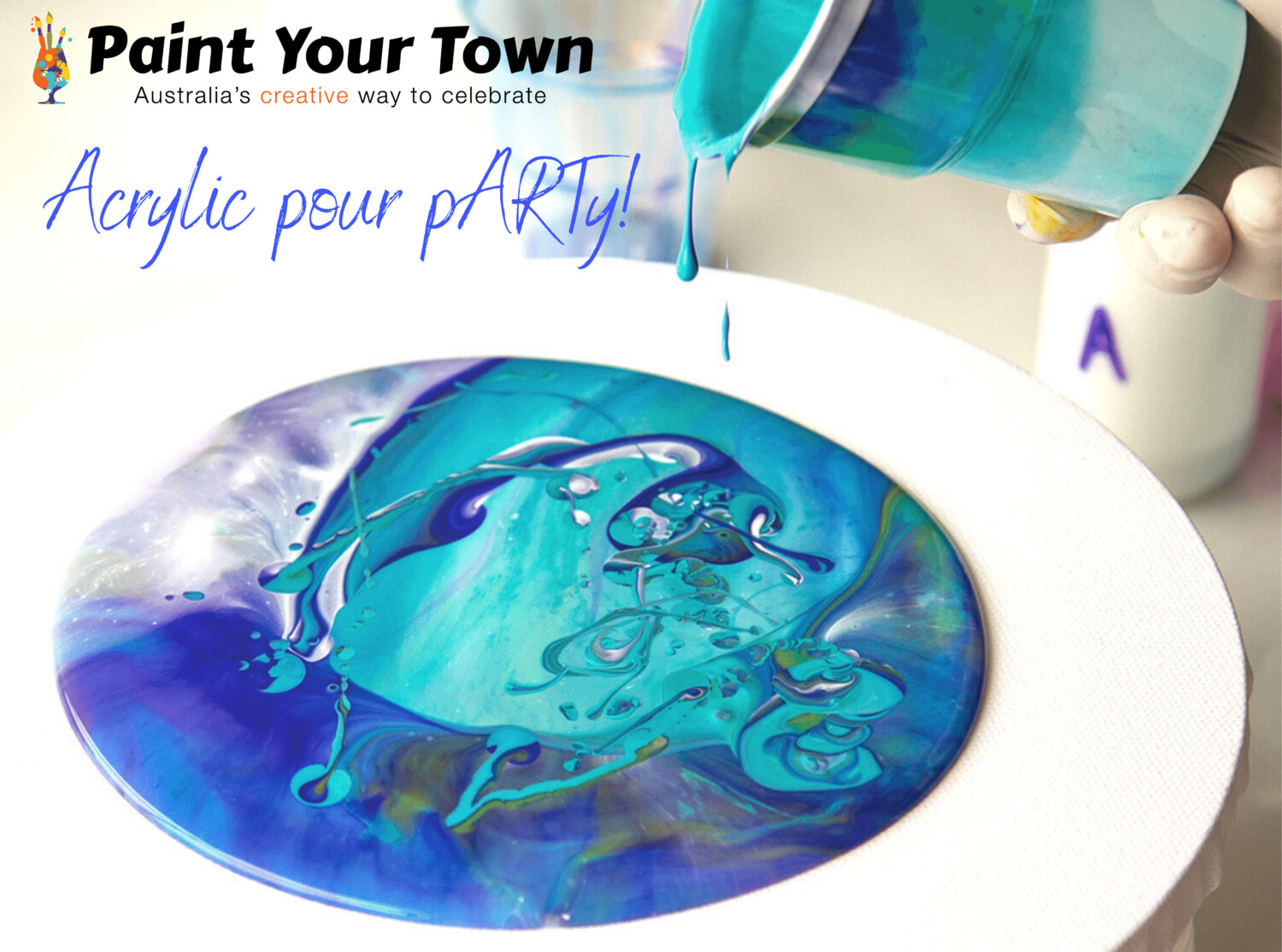 Acrylic Pour pARTy! - Dark Alley Coffee -  Saturday 18th July @ 2pm