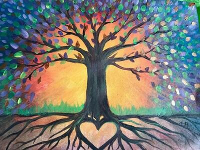 LOVE IN THE LEAVES  LIVE / ONLINE paint party FRIDAY 25TH  September
