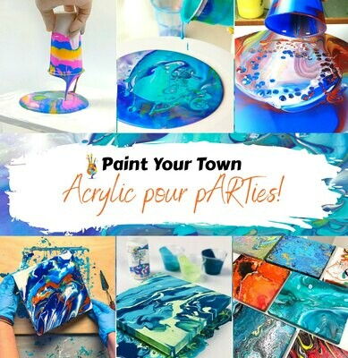 *PRIVATE* Acrylic Pouring Party for Jenny / Jesse 26th Sept.
