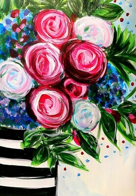 LIVE/ ONLINE paint party FRIDAY 9th Oct  6PM -8PM