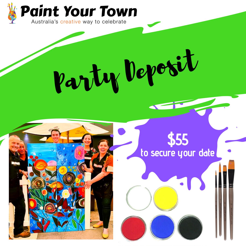 Private paint & sip pARTy deposit