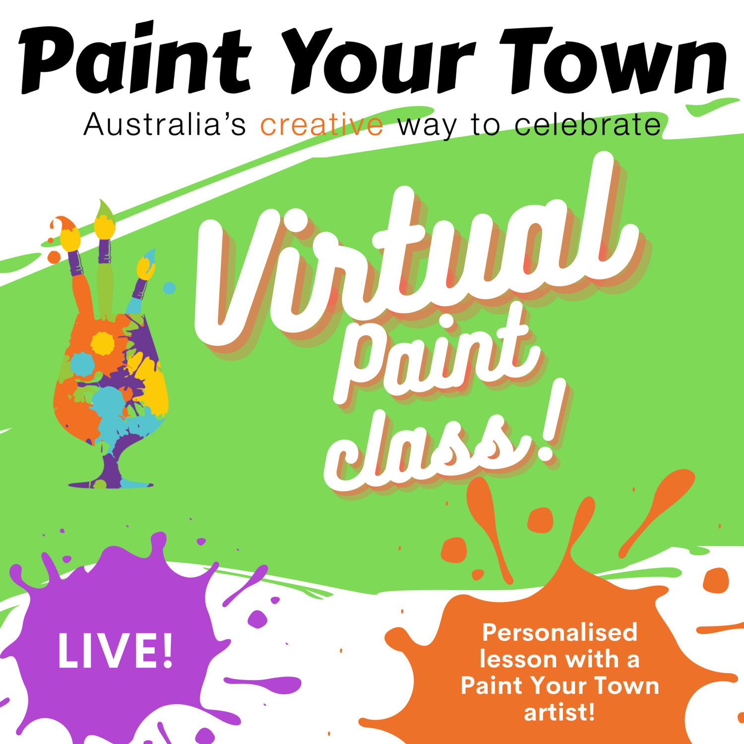 Private virtual paint class!