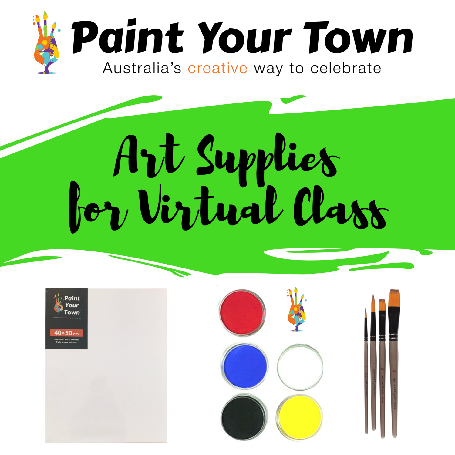 Art supplies for 1 VIRTUAL CLASS (includes freight)
