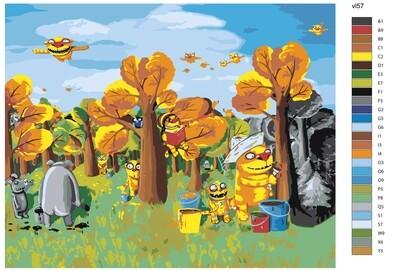 """Раскраска по номерам """"Волшебный лес"""""""