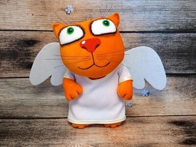 """Мягкая игрушка """"Кот-ангел"""""""